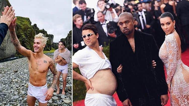 Guy Hilariously Photoshops Himself Into Celebrity Photos