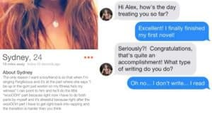 Hilarious things on tinder