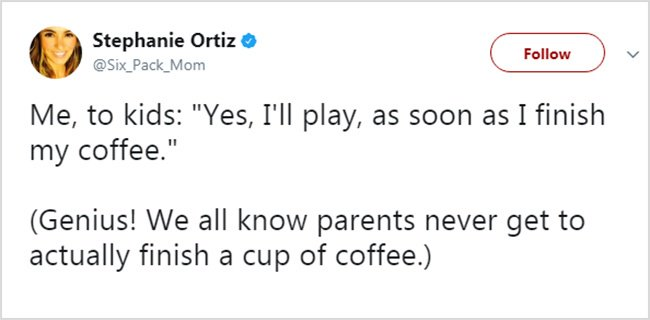 Honest Tweets About Parenting finish my cup of coffee
