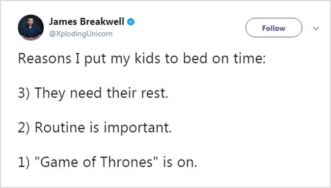 Honest Tweets About Parenting game of thrones