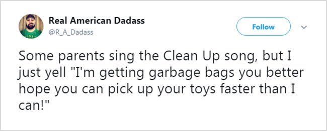 Honest Tweets About Parenting garbage bags