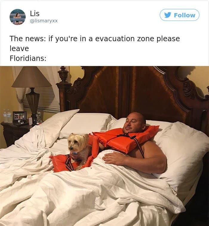 Hurricane Irma evacuation zones please leave
