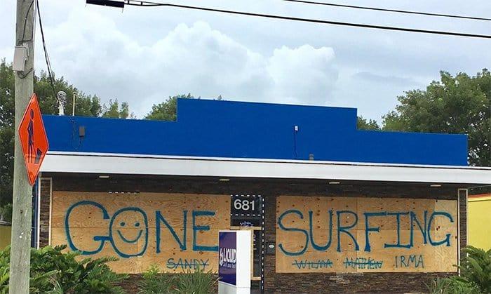 Hurricane Irma gone surfing