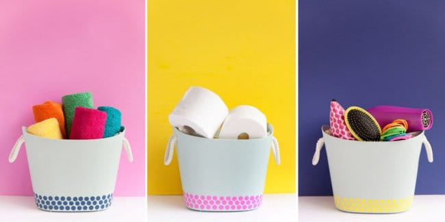Ideas For Reinventing Your Bathroom Space diy hampers