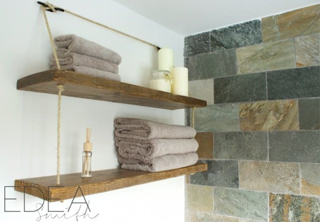 Ideas For Reinventing Your Bathroom Space diy shelves