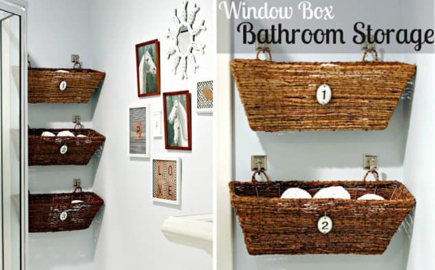 Ideas For Reinventing Your Bathroom Space hanging baskets