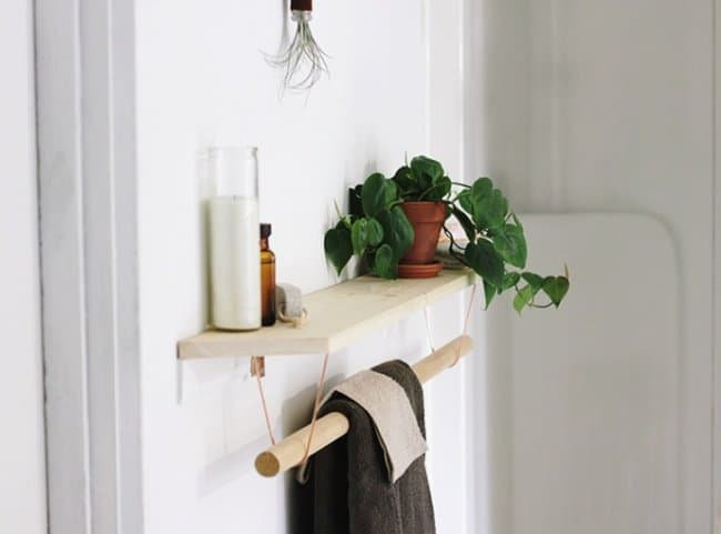 Ideas For Reinventing Your Bathroom Space hanging towel bar