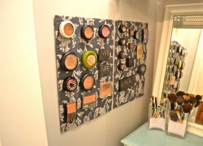 Ideas For Reinventing Your Bathroom Space magnetic cosmetics board
