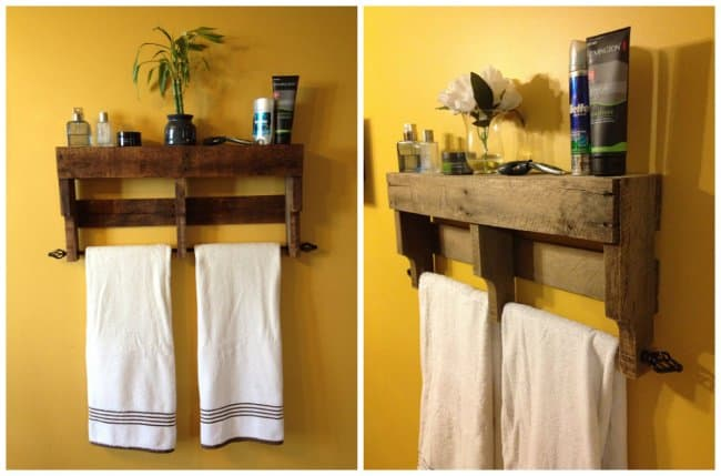 Ideas For Reinventing Your Bathroom Space pallet shelves
