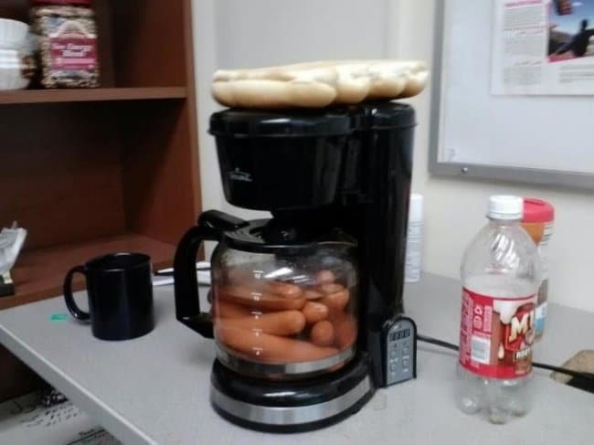 Ideas For Solving Strange Problems coffee machine hot dogs