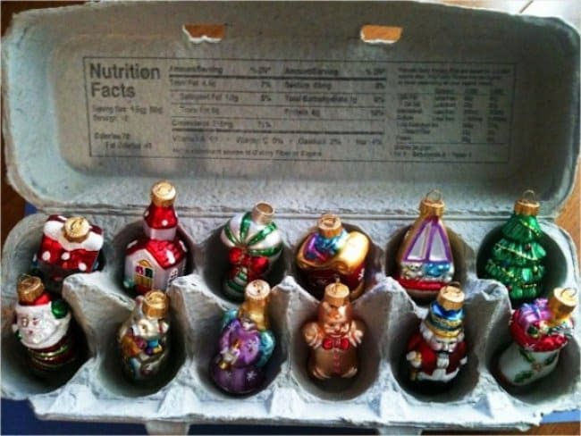 Ideas For Using Everyday Items In Different Ways egg carton ornaments