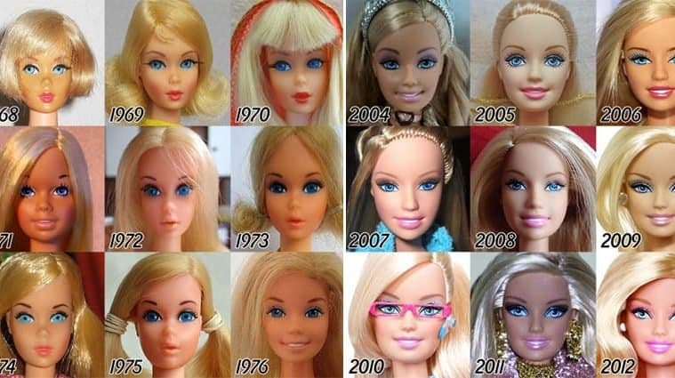 Incredible Evolution Of Barbie Over 56 Years