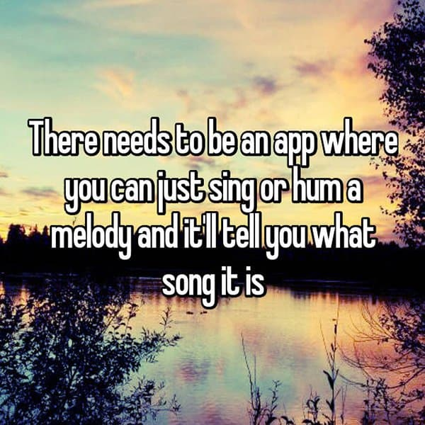 Interesting App Ideas sing or hum a melody