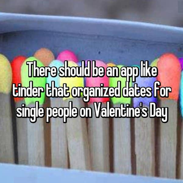 Interesting App Ideas single people on valentines day