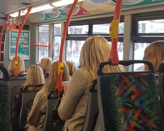 Interesting Photos blondes on bus