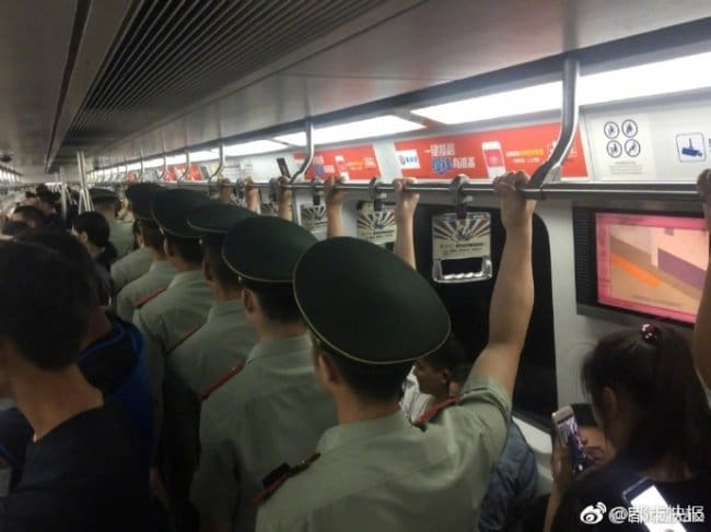 Interesting Photos policemen conveyer belt
