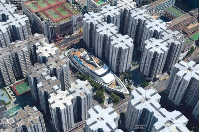 Interesting Things That Were Found On Google Maps cruise ship sky scrapers