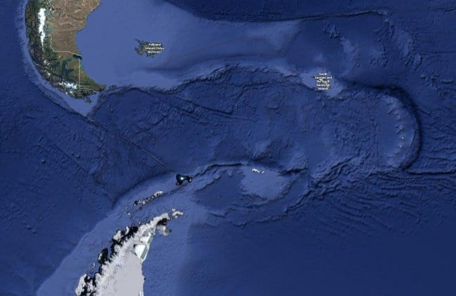 Interesting Things That Were Found On Google Maps south america antartica