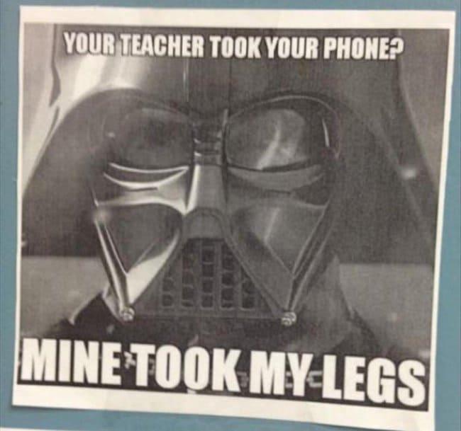 Inventive Teachers mine took my legs