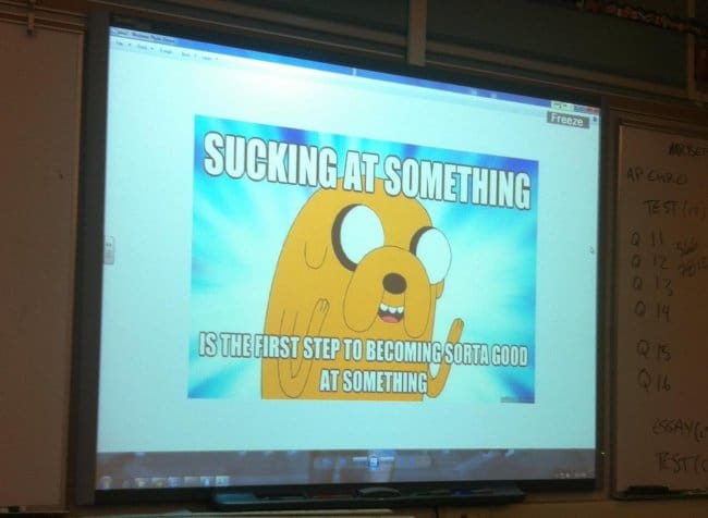 Inventive Teachers sucking at something