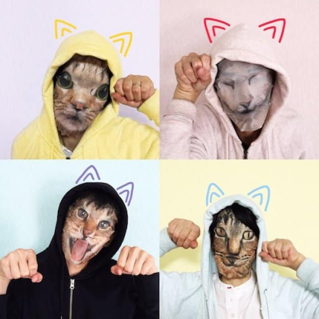 Japanese Inventions cat face mask