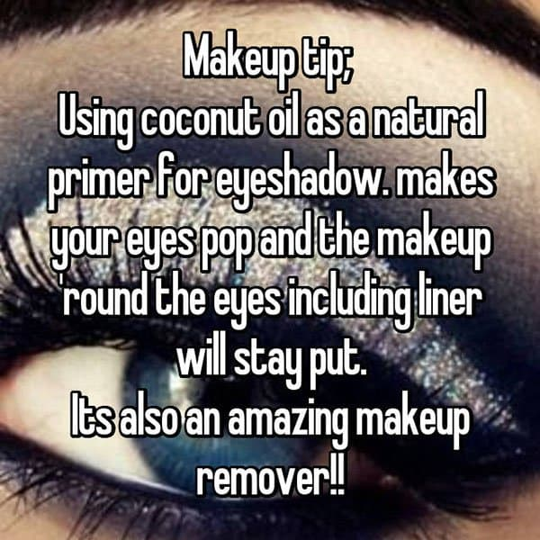 Make Up Tips And Tricks coconut oil