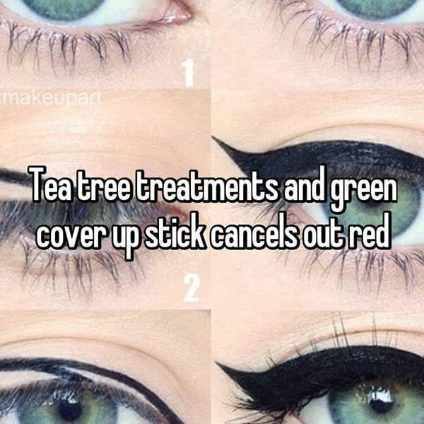 Make Up Tips And Tricks tea tree cancels red