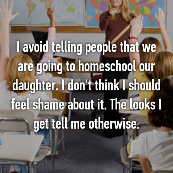 Opinions On Homeschooling feel shame