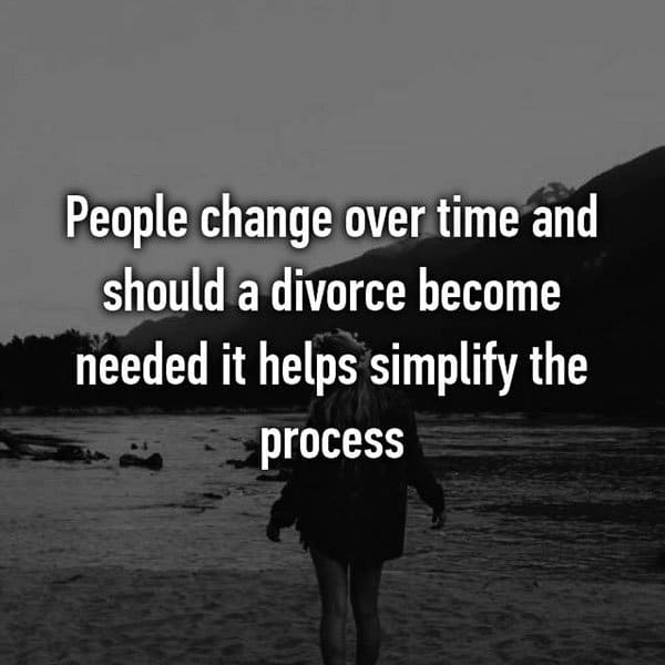 Opinions On Prenuptial Agreements people change over time