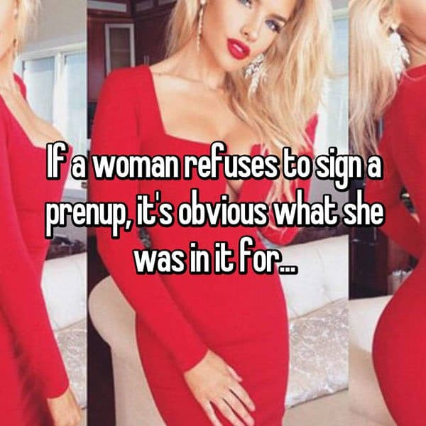 Opinions On Prenuptial Agreements woman refuses prenuo