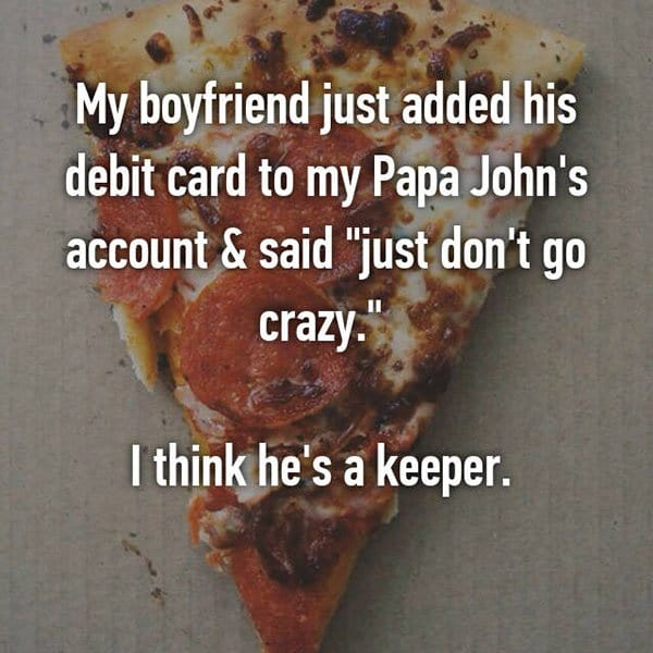 Partners Were Keepers debit card papa johns