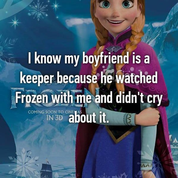 Partners Were Keepers watched frozen