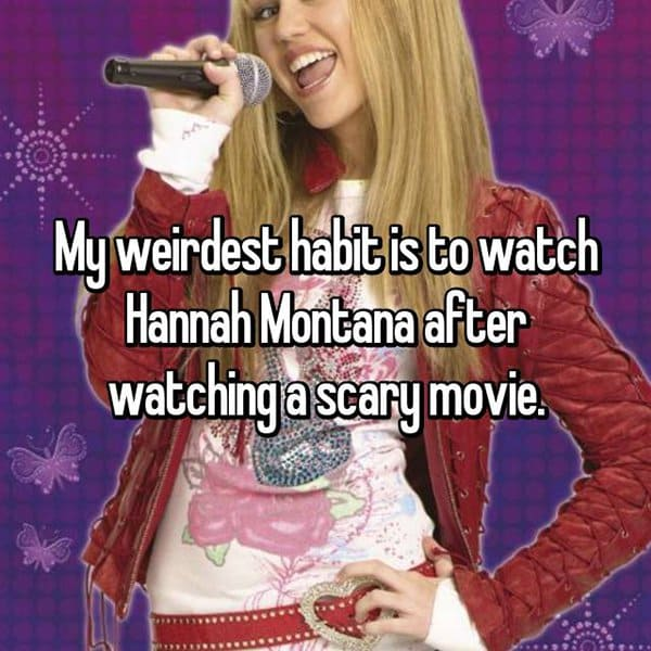 People Reveal Their Weirdest Habits hannah montana