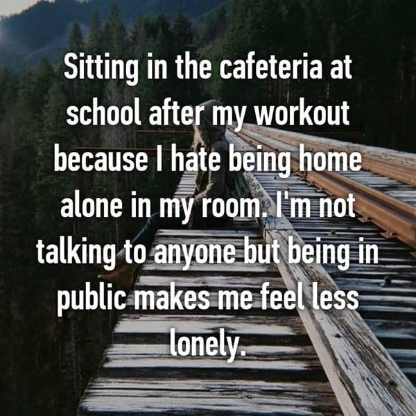 People Share The Things They Do To Feel Less Alone being in public