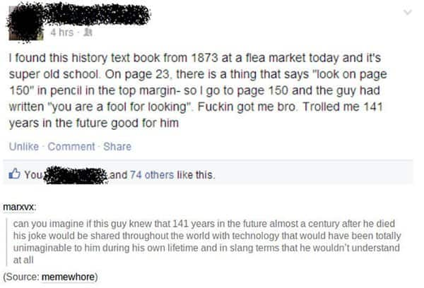 People That Took Trolling To The Next Level history text book