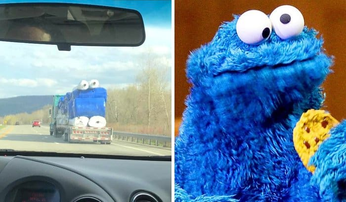 Pop Culture Icons In Disguise cookie monster
