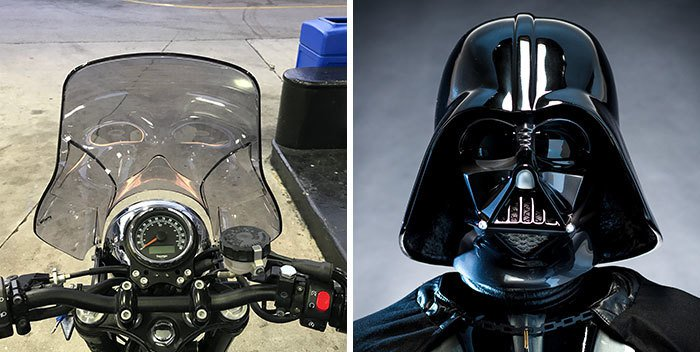 Pop Culture Icons In Disguise darth vadar wind screen