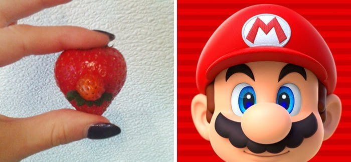 Pop Culture Icons In Disguise super mario strawberry