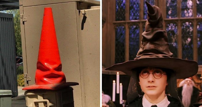 Pop Culture Icons In Disguise the sorting cone