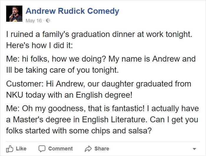 Posts About College ruined graduation dinner