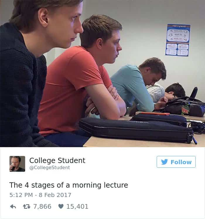 Posts About College stages of morning lecture