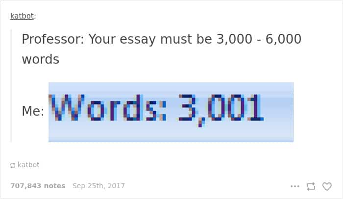 Posts About College word count