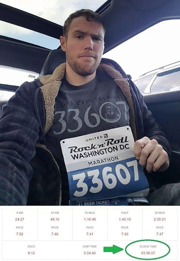 Rare Coincidences hometown zipcode tshirt race number finish time all the same