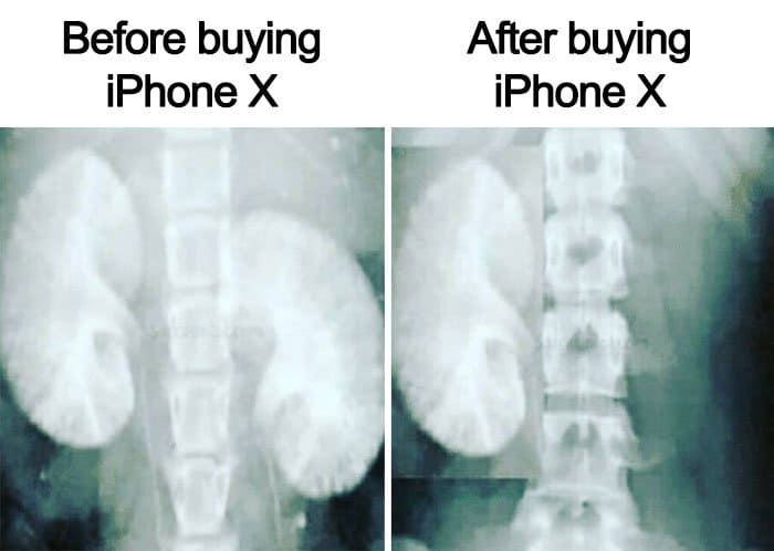 Reactions To The New iPhone X before and after
