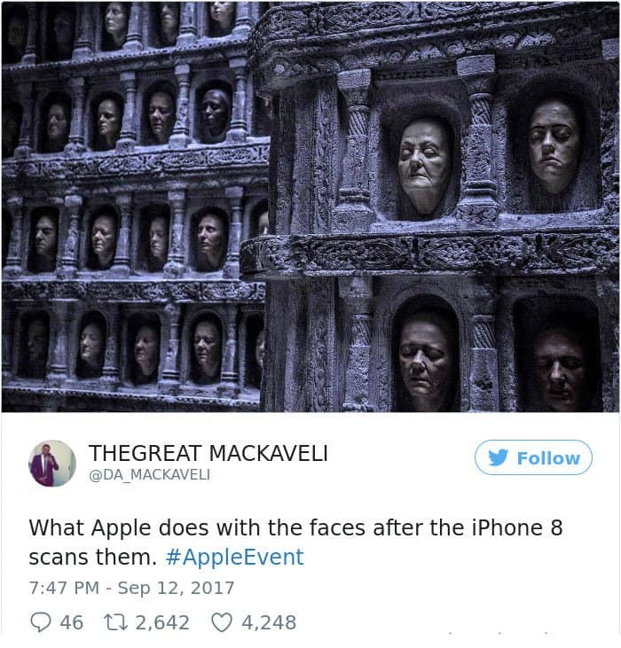 Reactions To The New iPhone X what apple does with faces