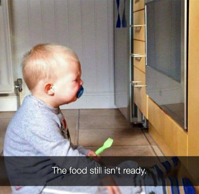 Reasons That Kids Had Major Meltdowns food isnt ready