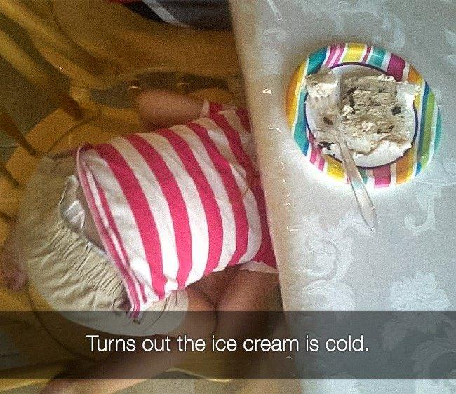 Reasons That Kids Had Major Meltdowns ice cream cold