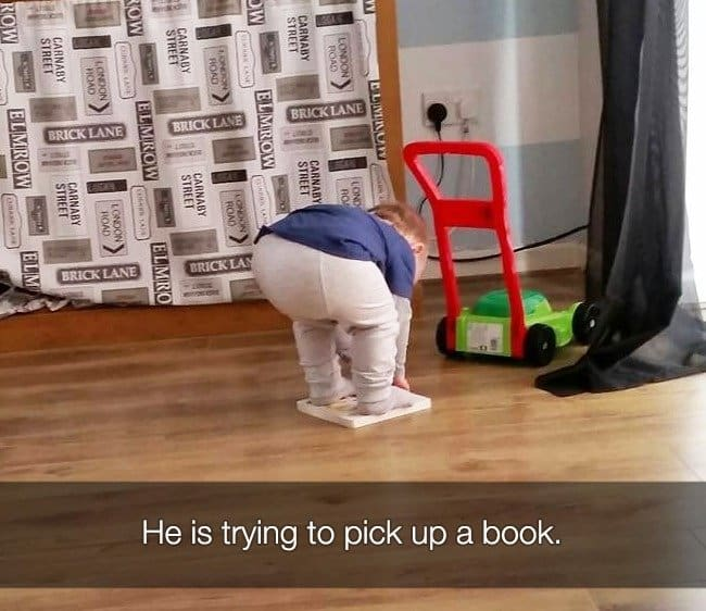 Reasons That Kids Had Major Meltdowns trying to pick up a book