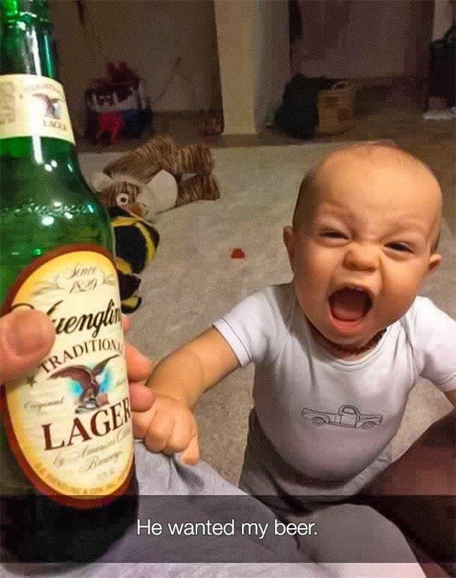 Reasons That Kids Had Major Meltdowns wanted beer