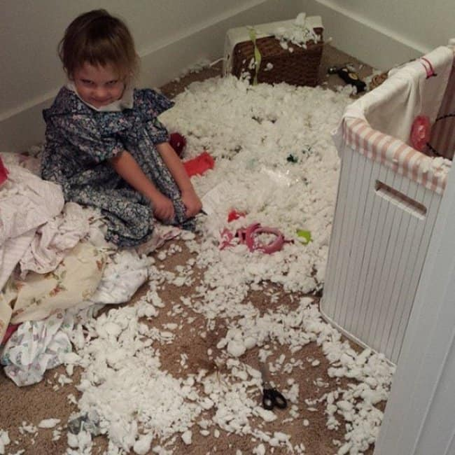 Reasons That Kids Should Never Be Left Alone fluff mess